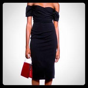 TOPSHOP Bardot Wrap Midi Dress